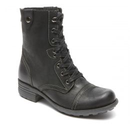 Bethany Black Lace-Up Boot