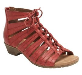Gabby Red Lace-Up Sandal