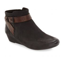 Joy Black Wedge Ankle Boot