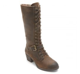 Anisa Brown Tall Lace-Up Boot