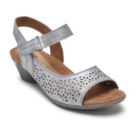 Laurel Metallic Perforated Sandal