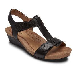 Hollywood T-Strap Black Sandal