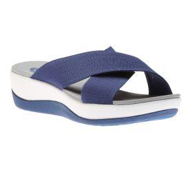 Arla Elin Blue Slide Wedge Sandal