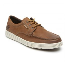 Colchester Brown Leather Moc Low Boat Shoe