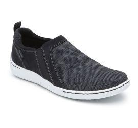 FitSmart Black Double Gore Slip-On Shoe