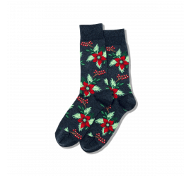 Hotsox Men's Christmas Poinsettia Socks