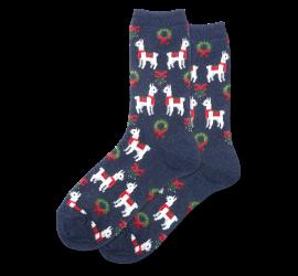 Hotsox Women's Holiday Llama Crew Socks