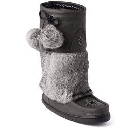 Waterproof Snowy Owl Mukluk Charcoal Winter Boot