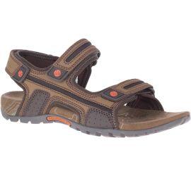 Sandspur Oak Dark Earth Leather Sandal