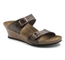 Dorothy Toffee Birko-Flor Slip-On Wedge Sandal
