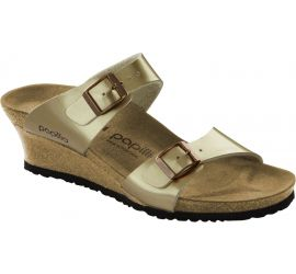 Dorothy Copper Birko-Flor Slip-On Wedge Sandal