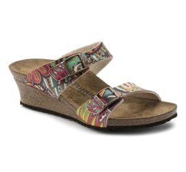 Dorothy African Wax Raspberry Birko-Flor Slip-On Wedge Sandal