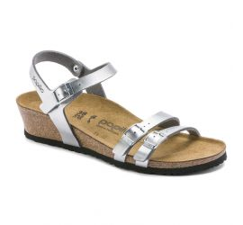 Lana Birko-Flor Silver Wedge Sandal