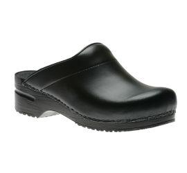 Karl Black Box Leather Clog