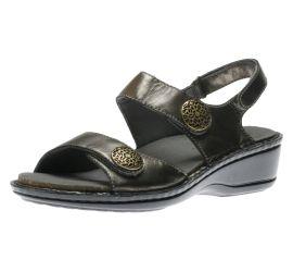Candace Pewter Leather Sandal