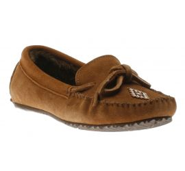 Canoe Suede Lined Copper Moccasin