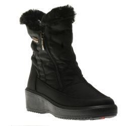 Veronica Black Nylon Winter Boot