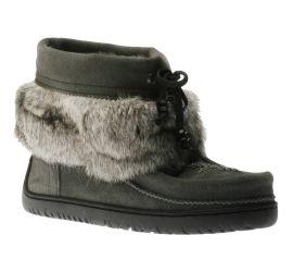 Keewatin Charcoal Half-Mukluk Winter Ankle Boot
