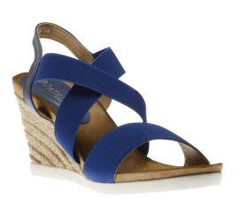 Jona Blue Espadrille Wedge Sandal