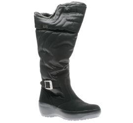 Natasha Black Faux Fur Trim Winter Boot