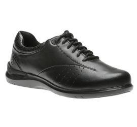Farren Black Leather Lace-Up Sneaker