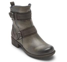 Alessia Black Strap Boot