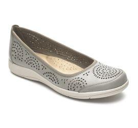 Daisey Grey Ballet Slip-On Flat