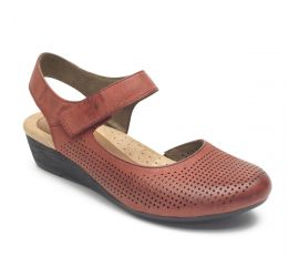 Judson Red Mid-Heel Wedge