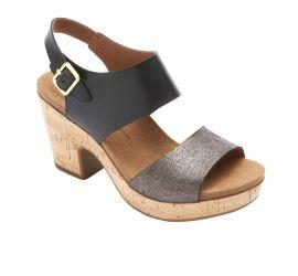 Vivianne 2 Black Platform Sandal