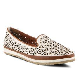 Tulisa White Leather Slip-On Loafer